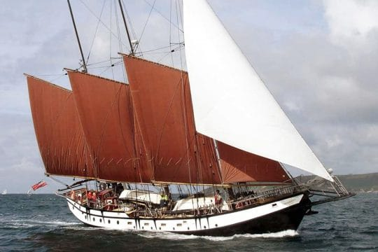 Trinovante under full sail