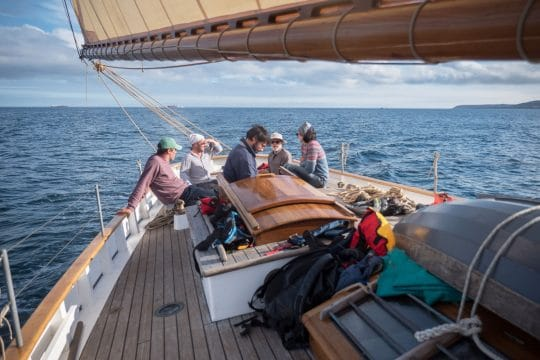 Unity sailing in the scillies