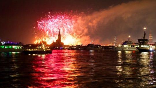 Venice Carnival fireworks