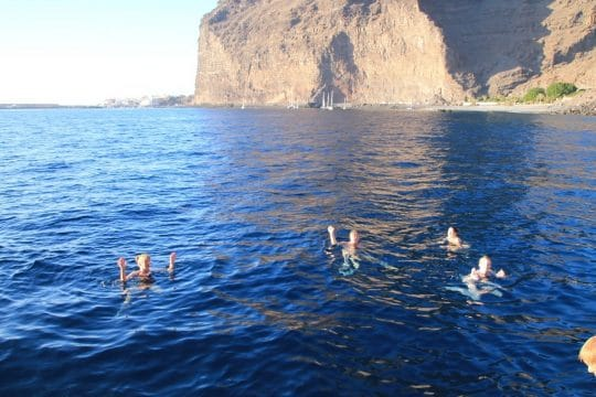 Swimming in the canaries on a classic sailing holiday