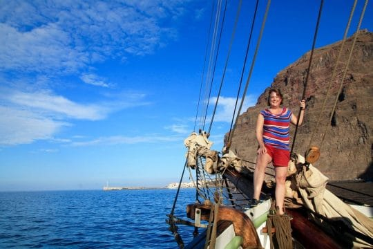 Single traveller on sailing holiday Tenerife