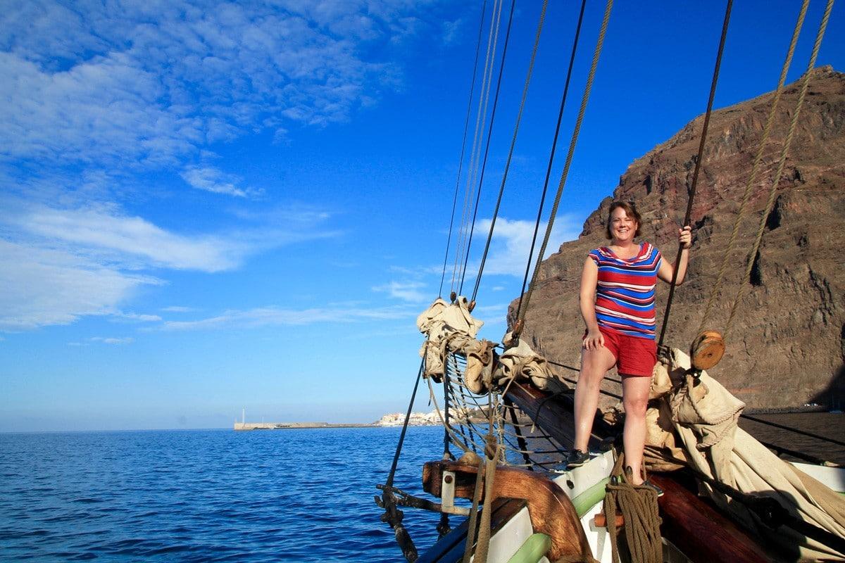 Single traveller on sailing holiday Tenerife