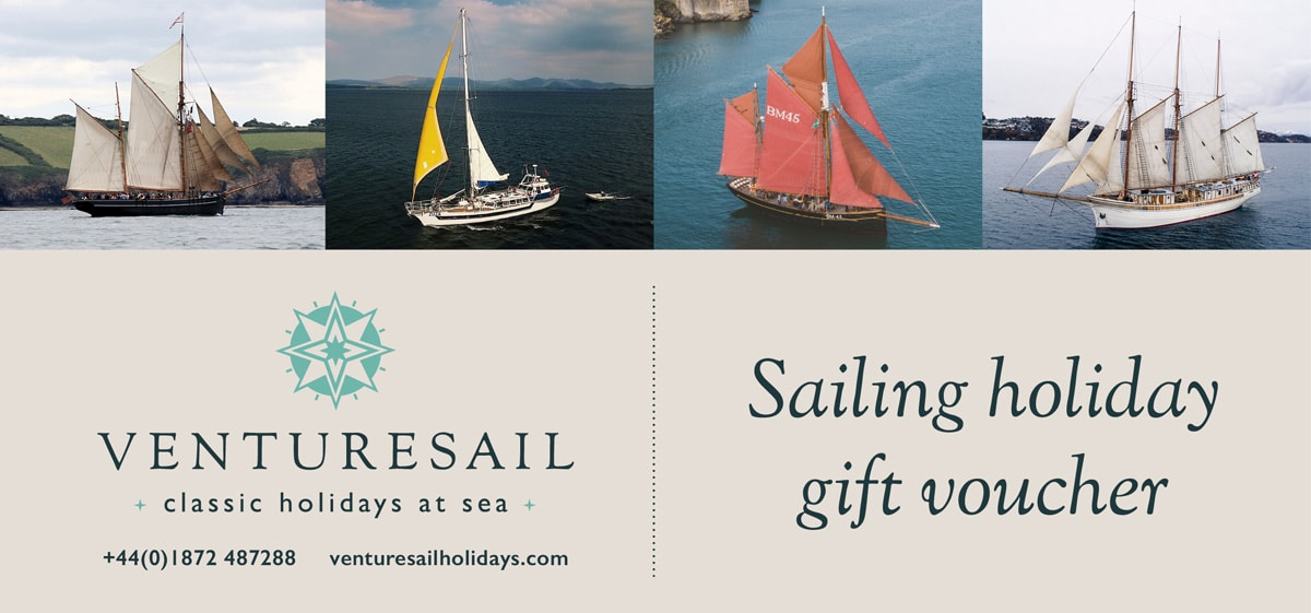 Sailing holiday gift voucher